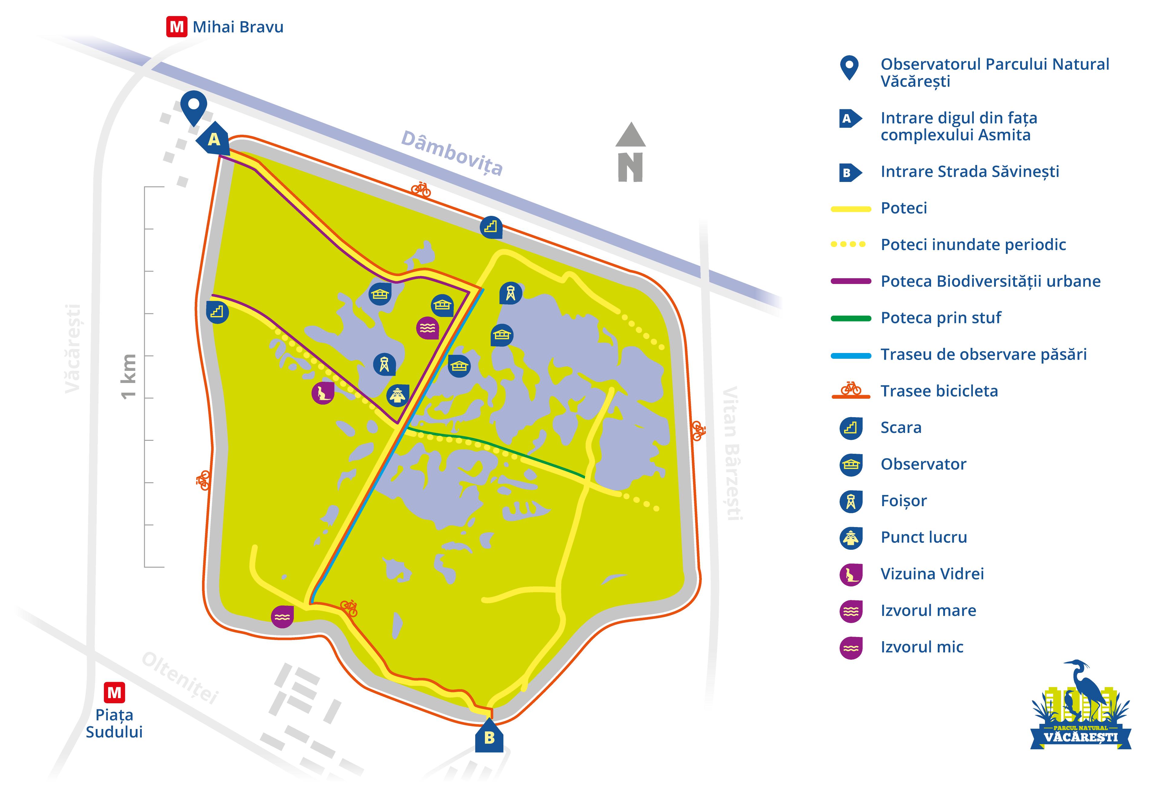 harta parc vacaresti